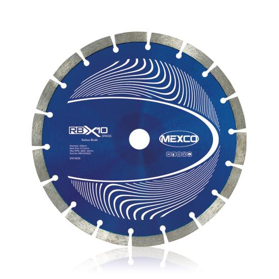 RBX10 Radius Curve Cutting 230mm Diamond Blade