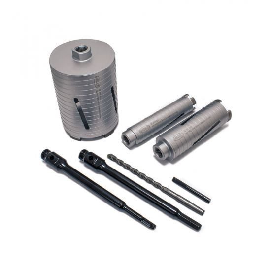 DCX90 7pc Core Drill Kit Parts