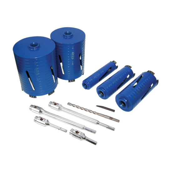 DCXCEL 11pc Core Drill Kit Parts