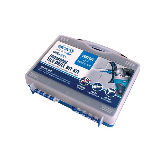 Wax Filled Diamond Tile Drill Bit Kit Case