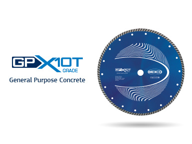 GPX10T General Purpose Concrete Turbo Diamond Blade Video