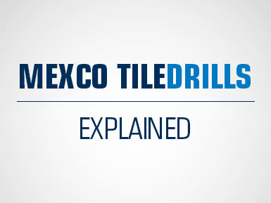 Mexco Diamond Tile Drill Range